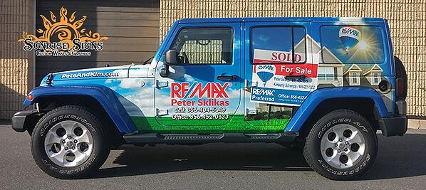 Vehicle Graphics for Jeeps in Washington Township NJ