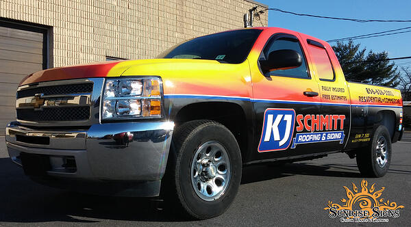 Chevy Silverado Truck Wraps For Roofing And Siding Contractor