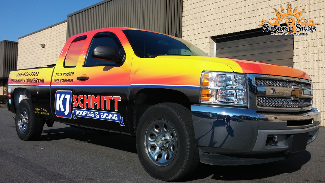 Roofing Contractor Truck Wraps South Jersey