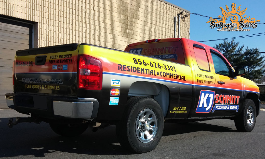 Roofing and Siding Contractor Truck Graphics Pine Hill NJ