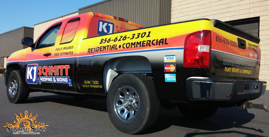 One of a kind Contractor Truck Wraps South Jersey
