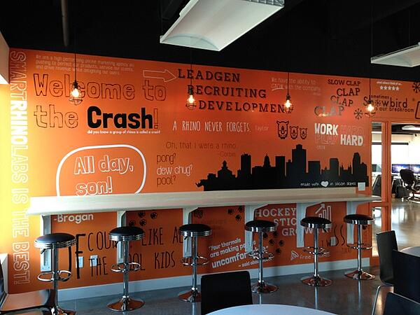 Inspire employees with break room wall graphics