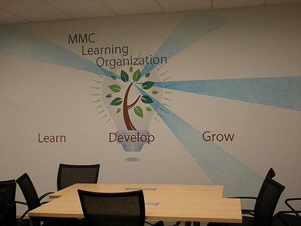 Wall Murals and Graphics for Employee Training Rooms