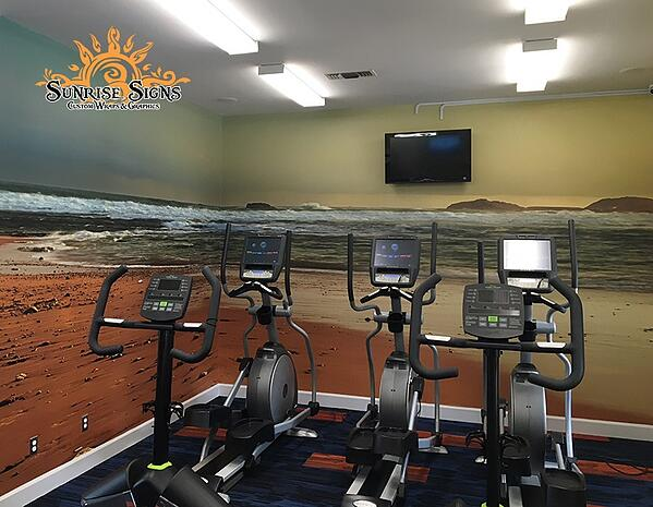 Wall Murals for Apartment Gyms in Newark NJ