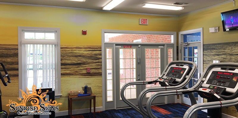 Wall Graphics for Apartment Fitness Centers in Newark NJ