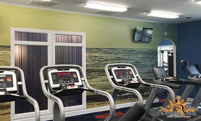 Wall Graphics for Exercise Rooms in Newark NJ
