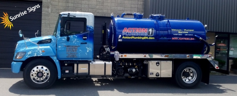 Full Wrap on Cap with Cut Graphics on Pumper Tank