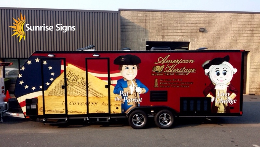 Full Wrap Travel Trailer for Credit Union