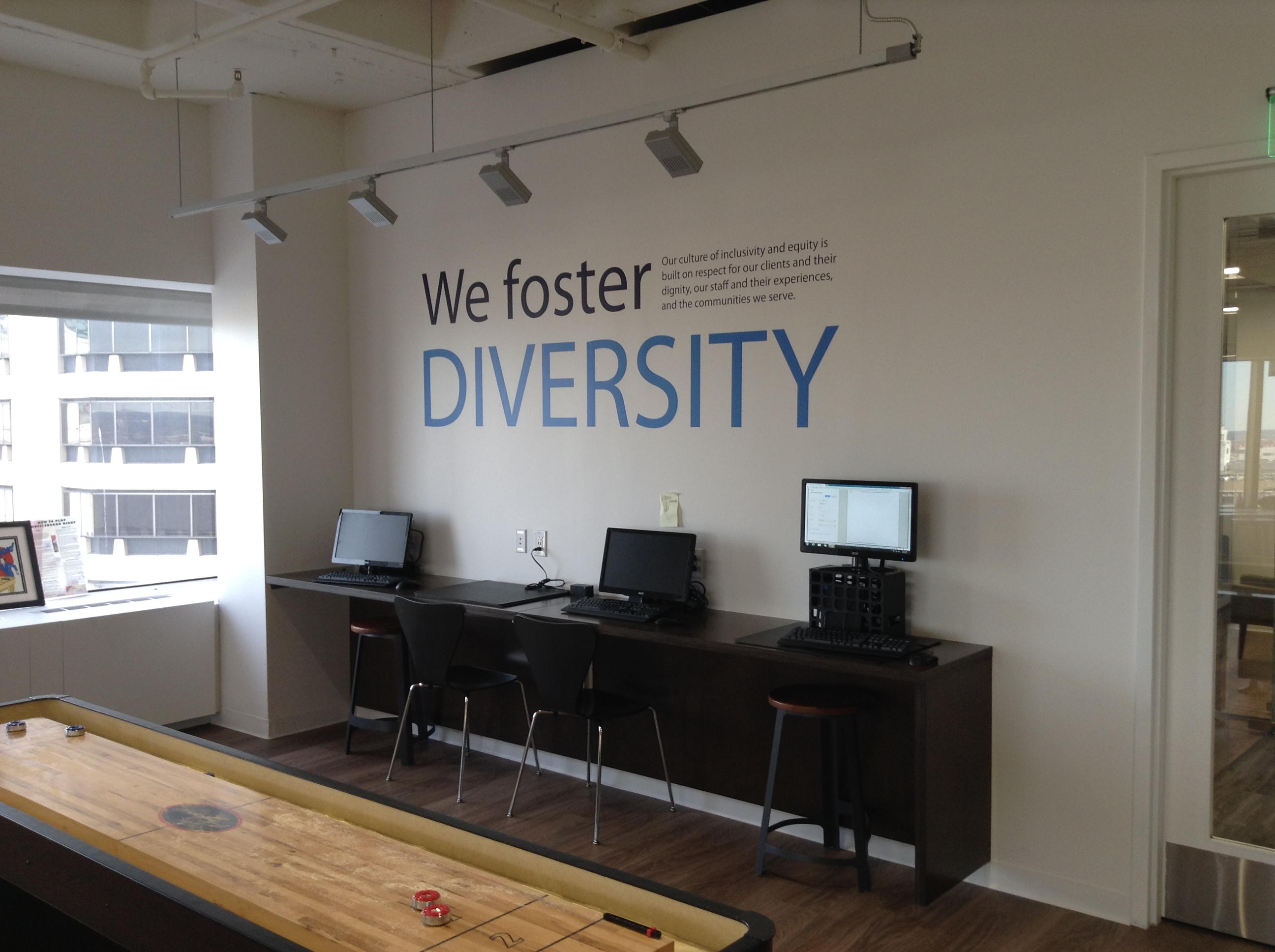 New Jersey Office Wall Lettering