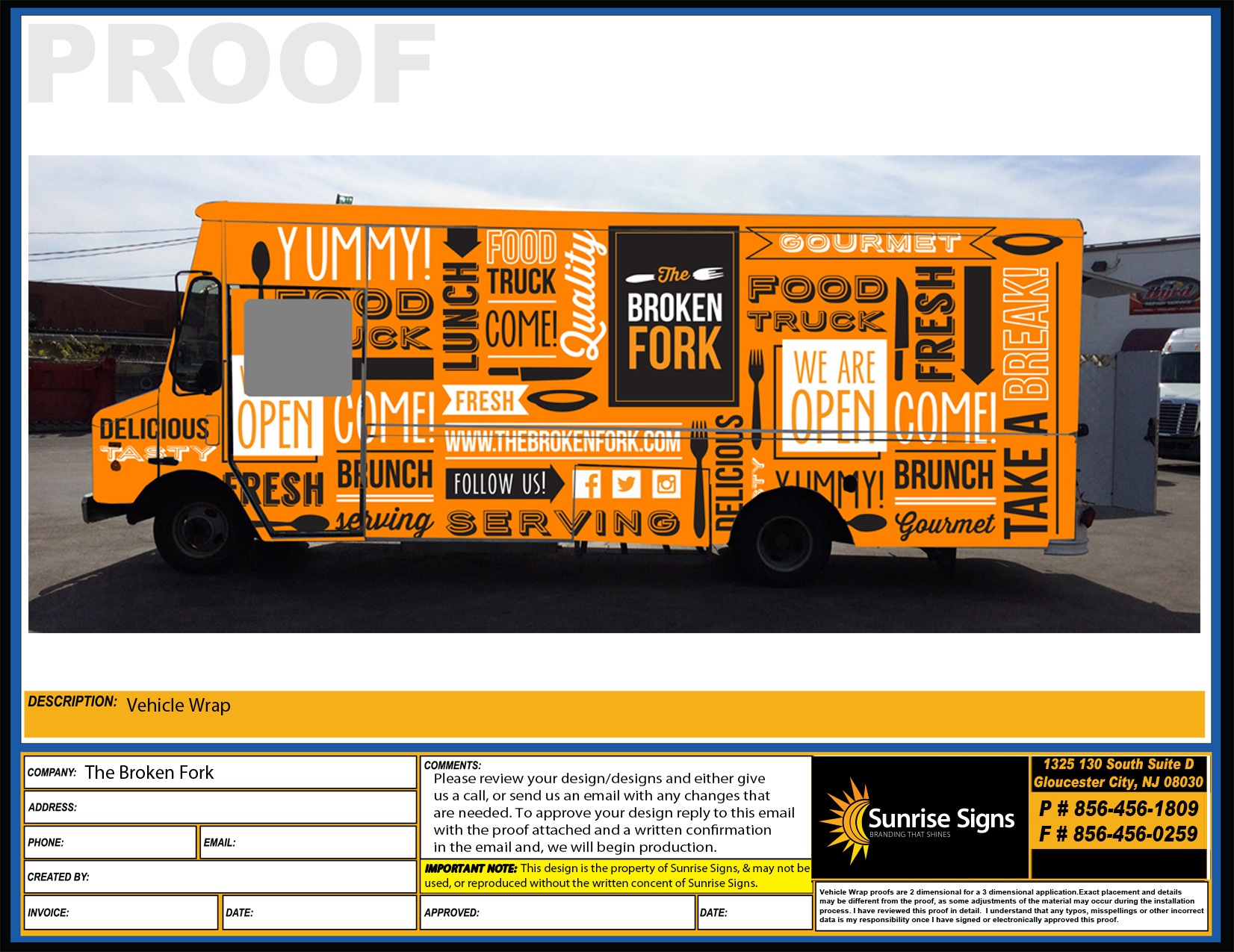 BROKEN FORK Food Truck
