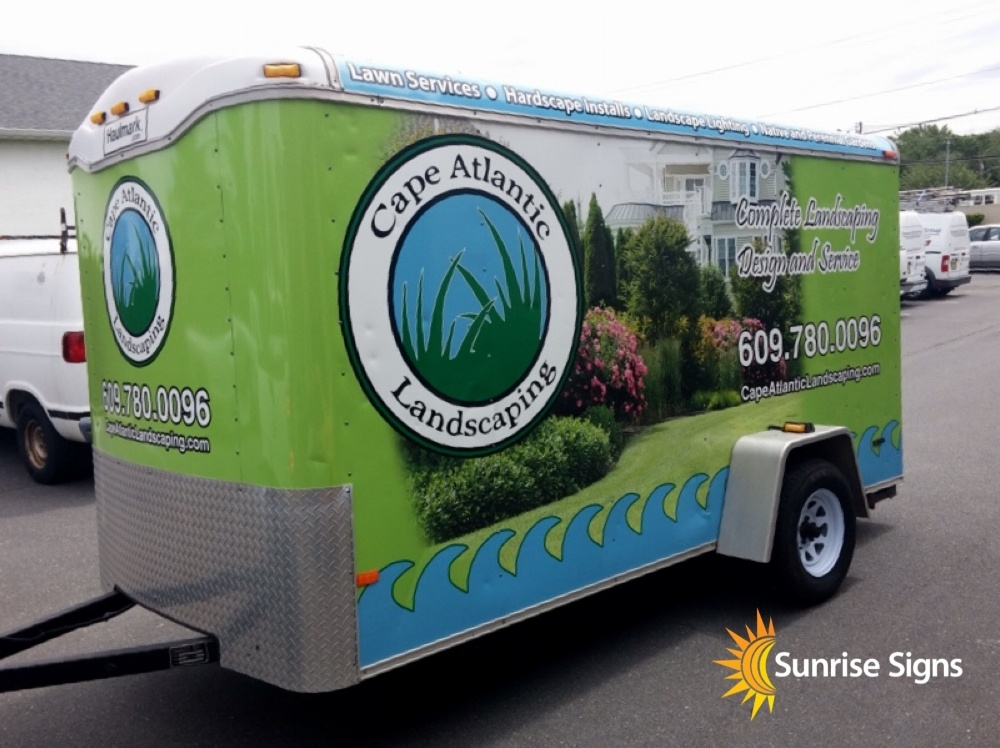 Full Wrap 12 Foot Trailer for Landscaper
