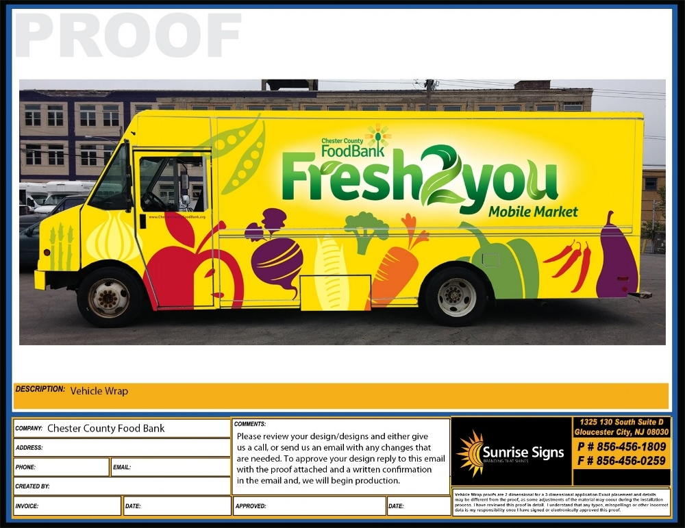 CHESTER COUNTY FOOD BANK Food Truck Wrap