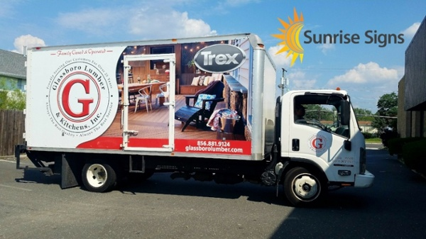 Box Truck Full Wrap with Cut Graphic on Door