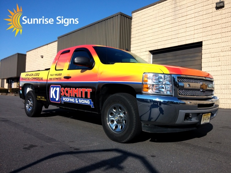 Roofing Company Full Truck Wrap