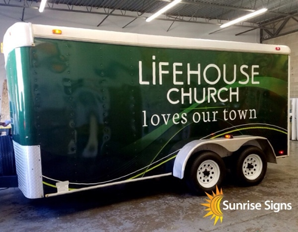 14' Trailer Full Wrap for Church
