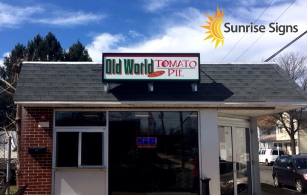 Roof Mounted Lexan Sign