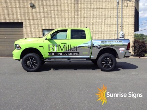 Full Chrome and Green Wrap on Ram 1500