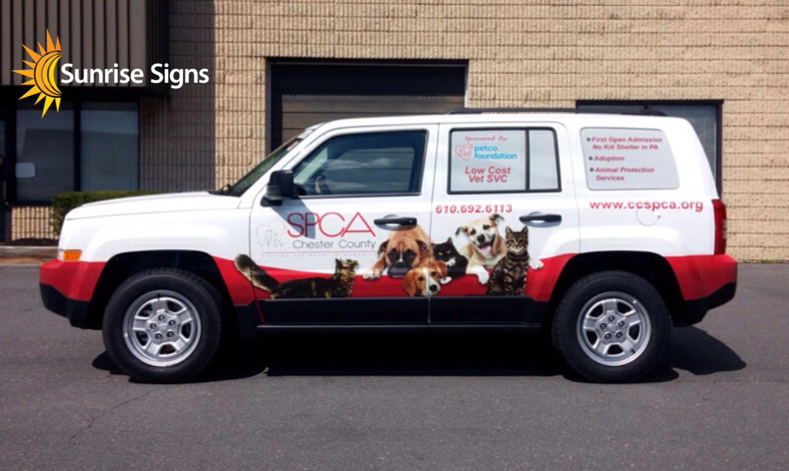 SPCA Full wrap Jeep Compass
