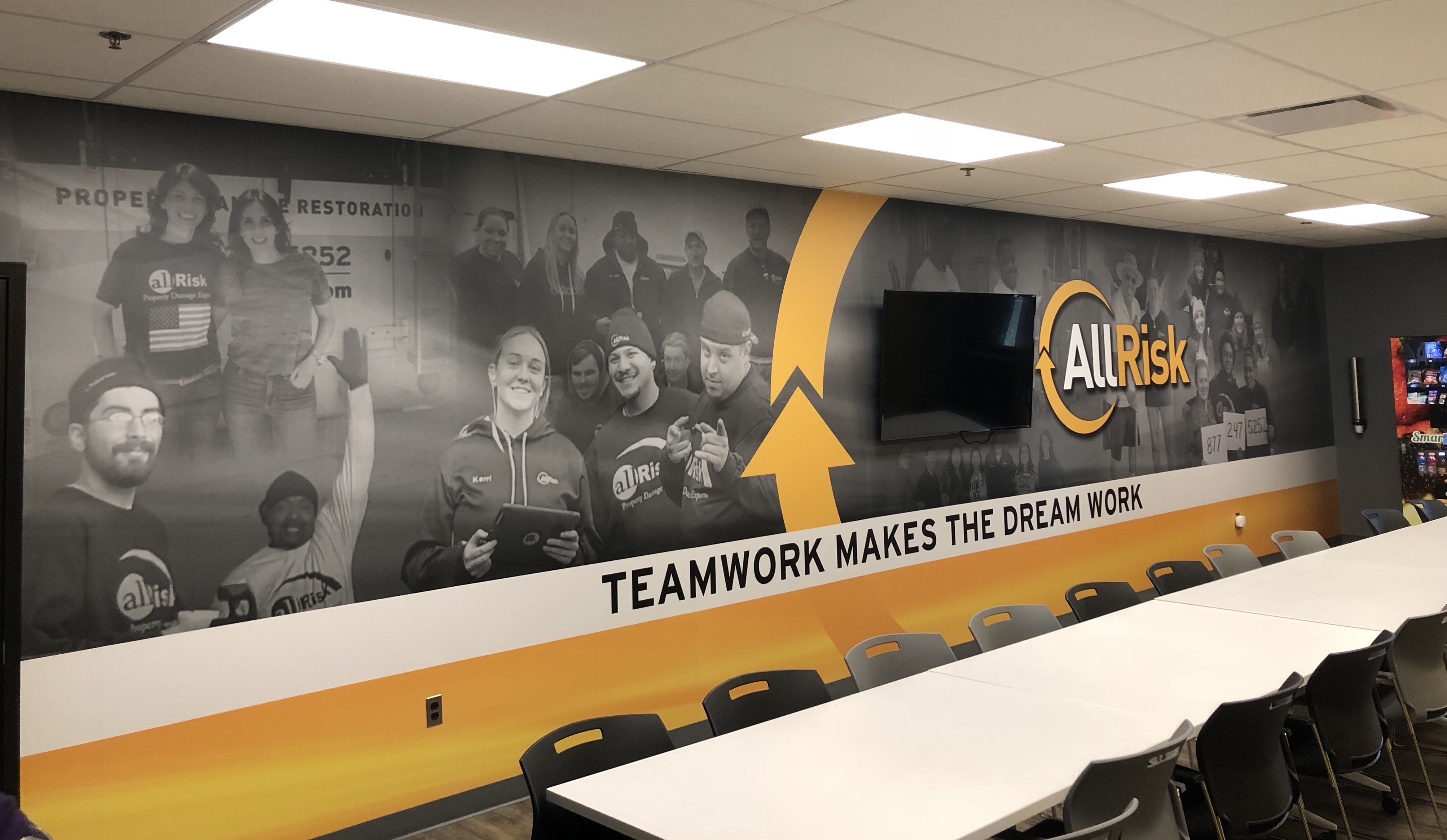 Team Room Wall Graphics Mural
