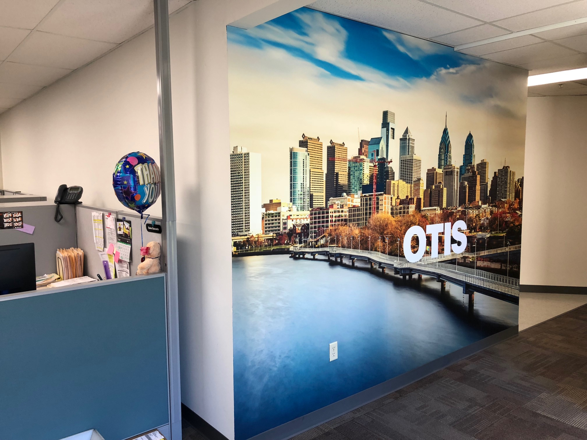 New Jersey Facility Wall Mural Break Room