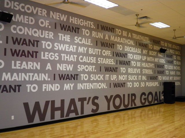 Using Wall Graphics and Murals in Your Corporate Fitness Center