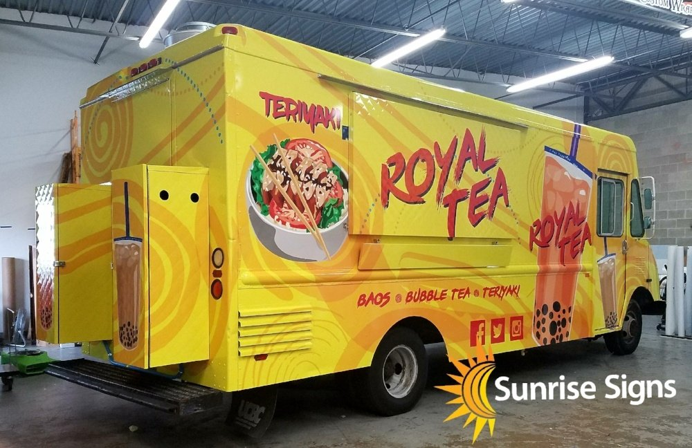 royal tea Food truck full wrap